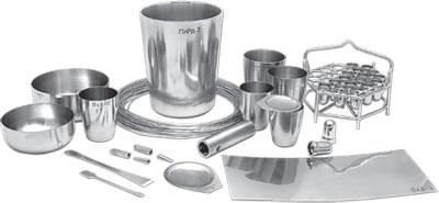 9.4. Лабораторная посуда и принадлежности из металла